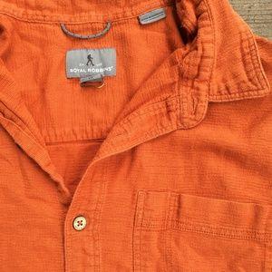Royal Robbins orange hiking shirt L